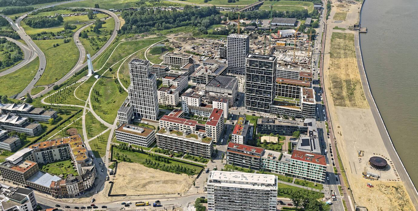 Luchtfoto van de wijk Nieuw Zuid.