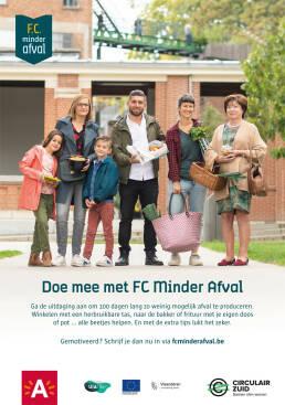 Poster van Minder Afval acties