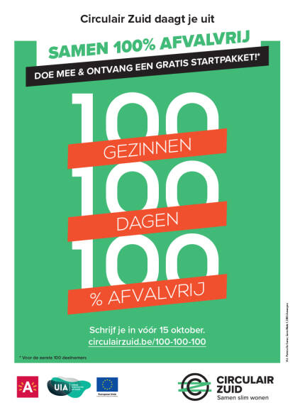 Poster van Minder Afval acties.