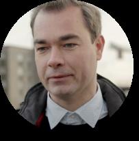 Sam, projectleider warmte en energie van de stad Antwerpen.