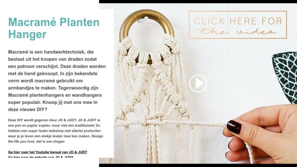 Macrame Planten Hanger Creatief Met Crea Weekend