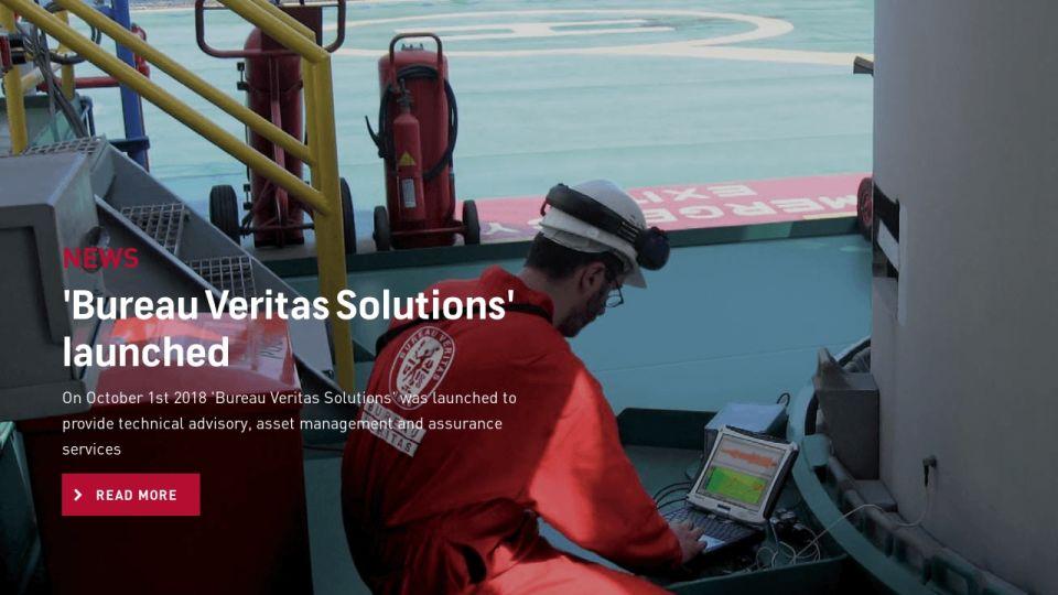 Bureau Veritas Solutions' launched - BV1828 April 2019