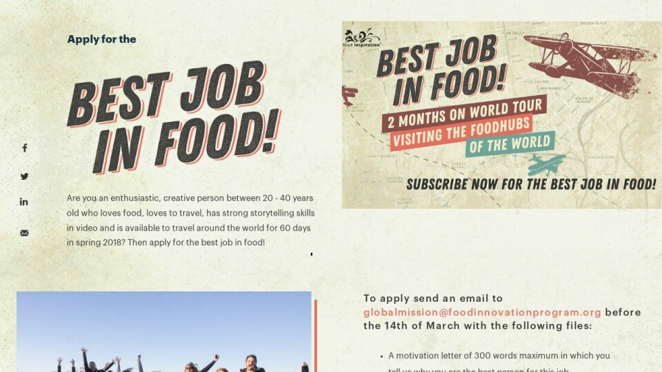 The Best Job In Food - INT31 DNA and Food