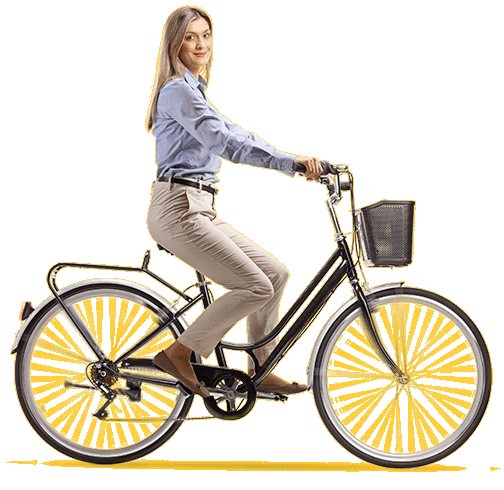 meisje fiets