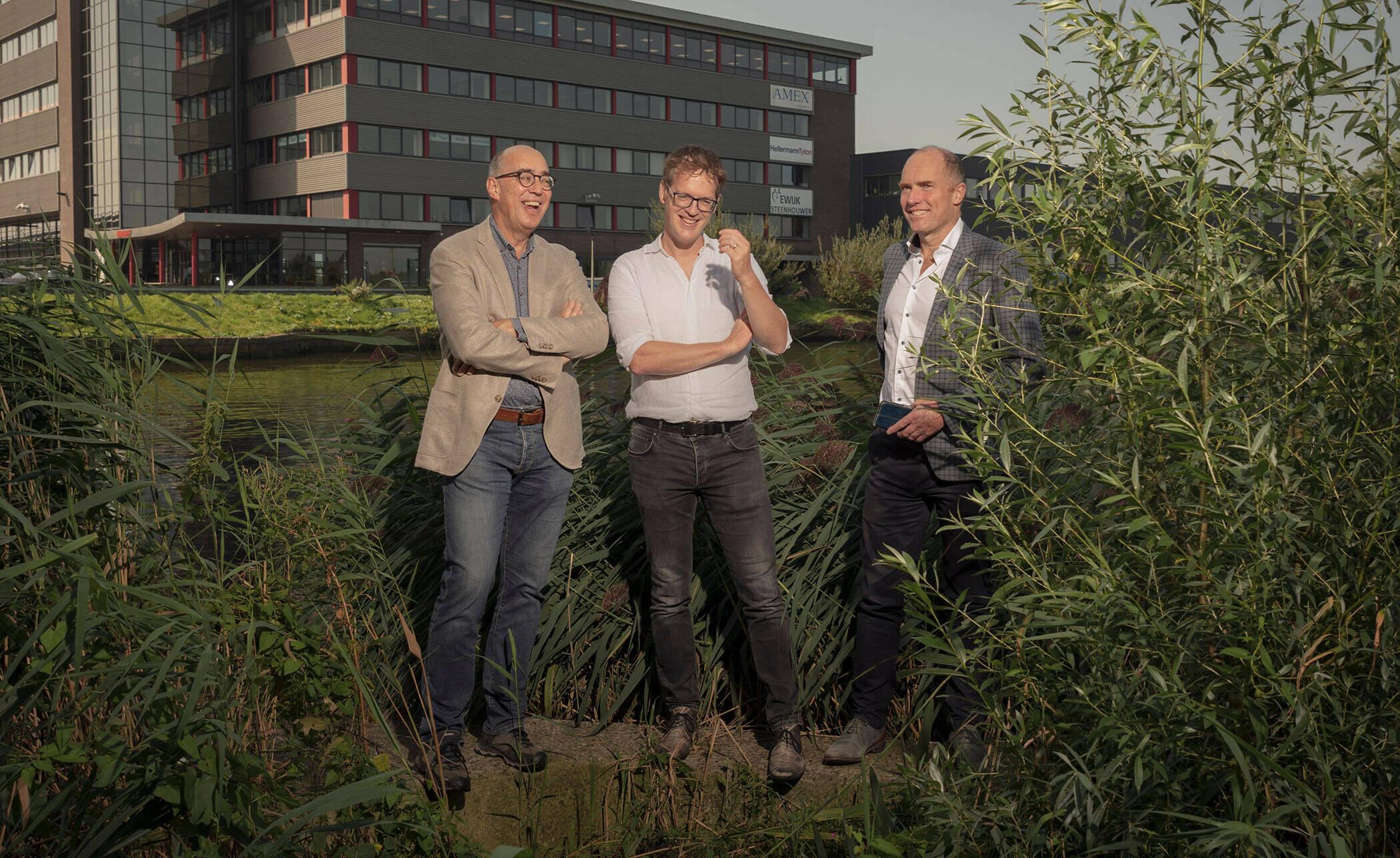 Foto met Ludolph Wentholt, Robin Biemans en Henk van Hemert