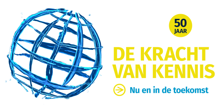 Banner voor STOWA 50 jaar 'De kracht van kennis.'