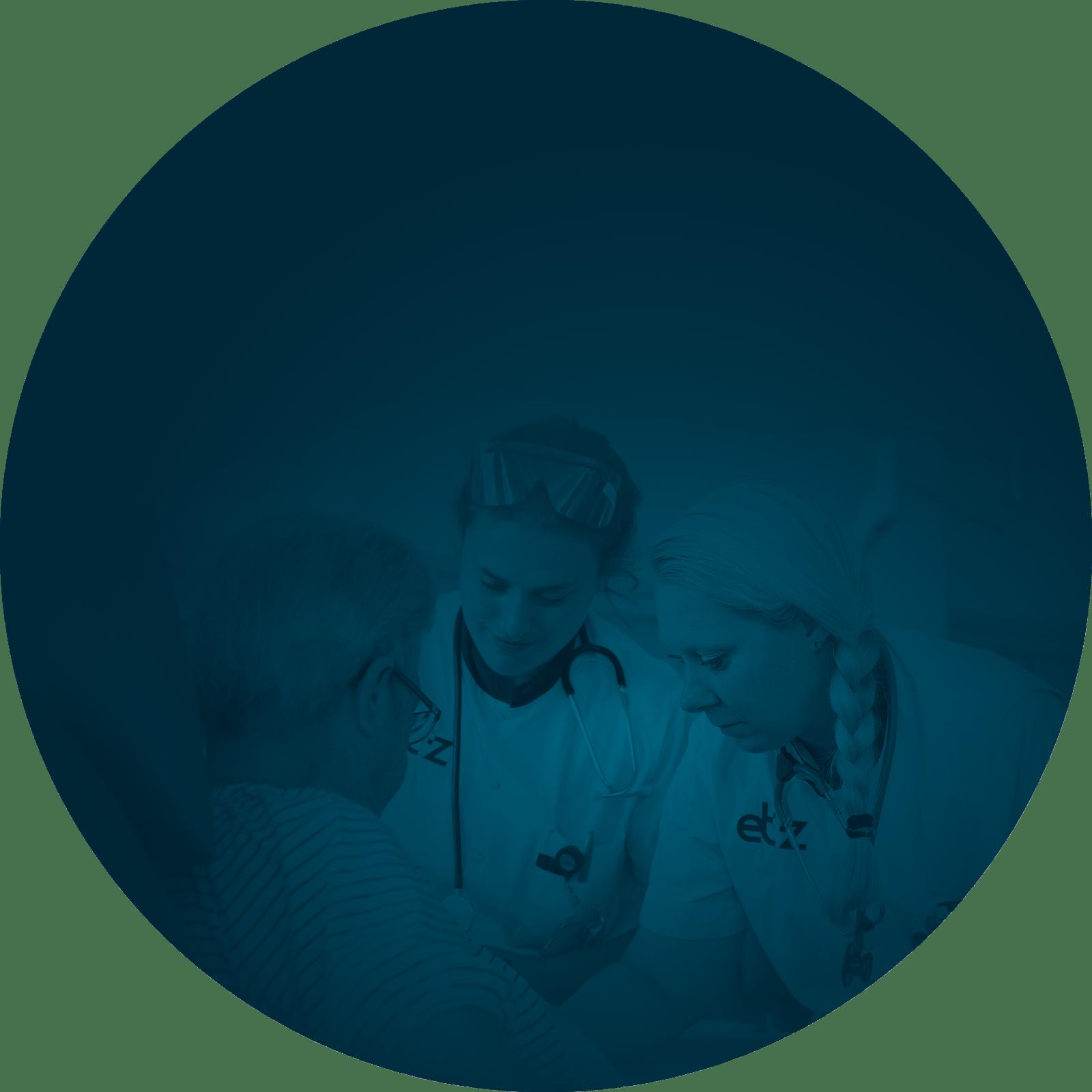 blauw cirkel