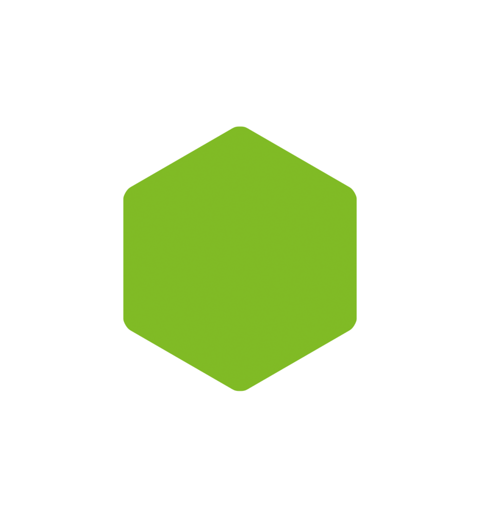 groene zeshoek