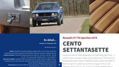 Renault 177 TS Injection 1974 - Losange Magazine issue 6